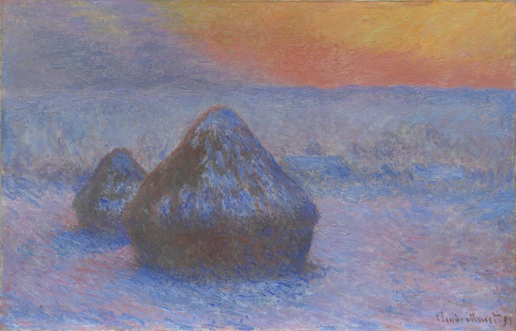 Monet Meules, effet de neige, soleil couchant - Au dela des etoiles, le paysage mystique de Monet a Kandinsky - Musee d'Orsay