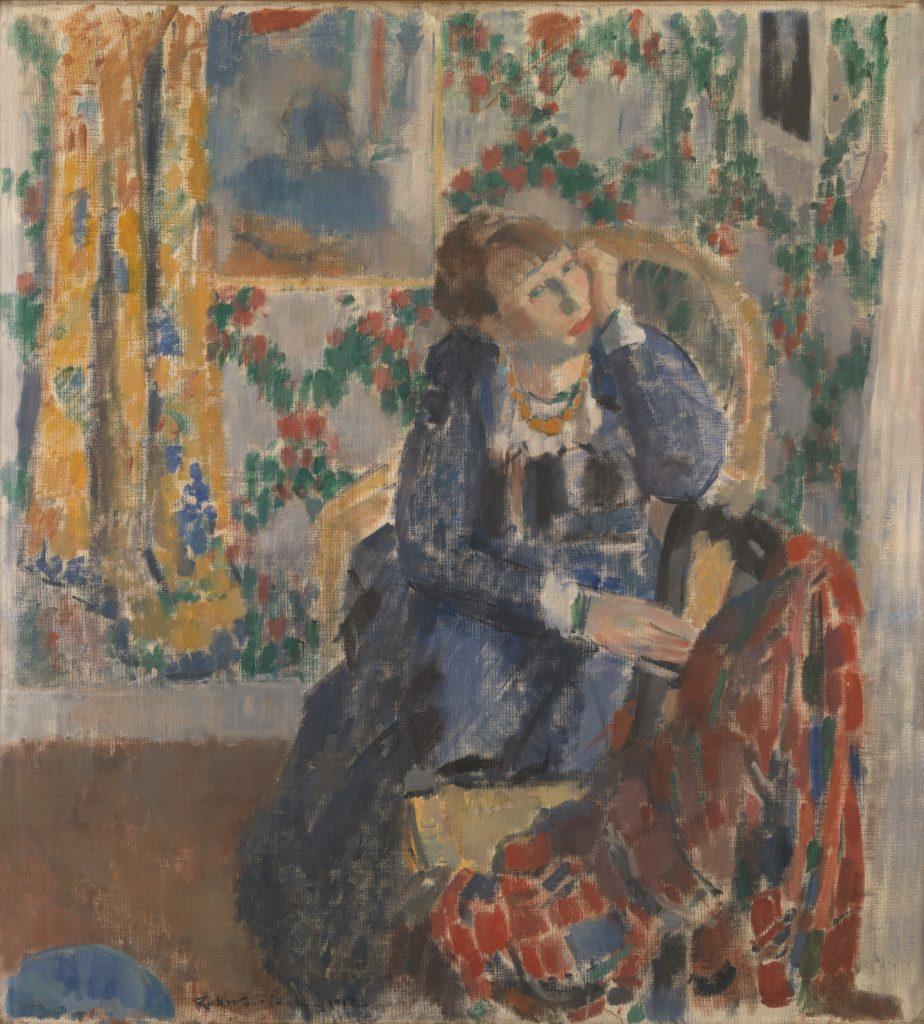 Woman with the yellow necklace - Rik Wouters - - Musée Royal des Beaux Arts en Belgique - Bruxelles