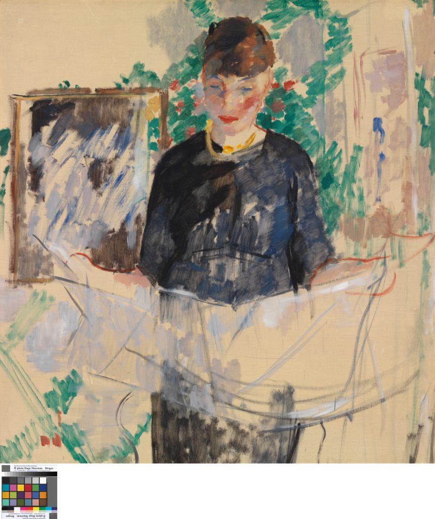 RIK-WOUTERS - Woman in black reading a newspaper - Musée Royal des Beaux Arts en Belgique - Bruxelles