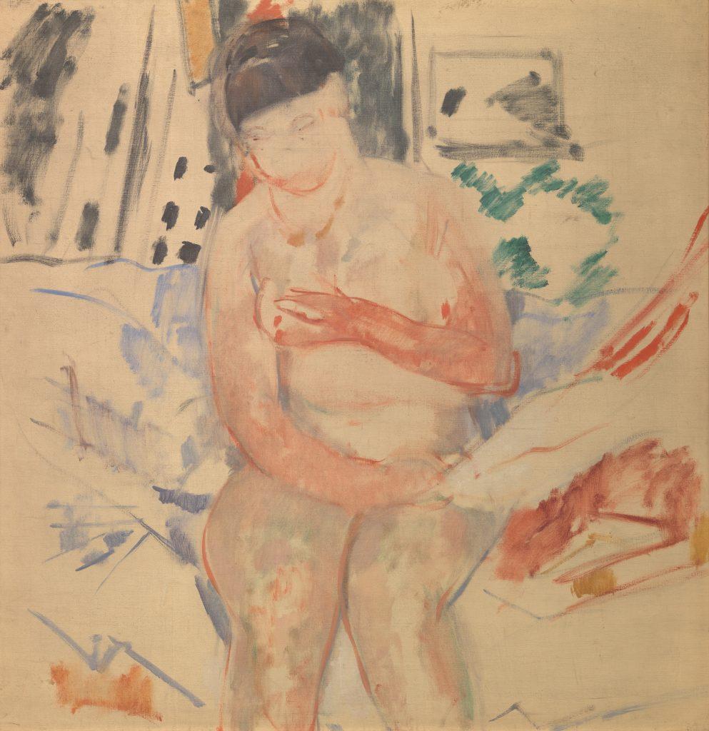 Nude Seated on the edge of a bed Rik Wouters - Musée Royal des Beaux Arts en Belgique - Bruxelles