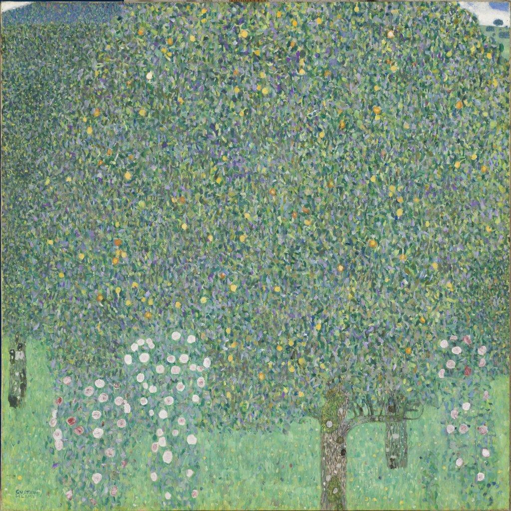Klimt Rosiers sous les arbres Kandinsky Accord reciproque Au dela des etoiles, le paysage mystique de Monet a Kandinsky - Musee d'Orsay
