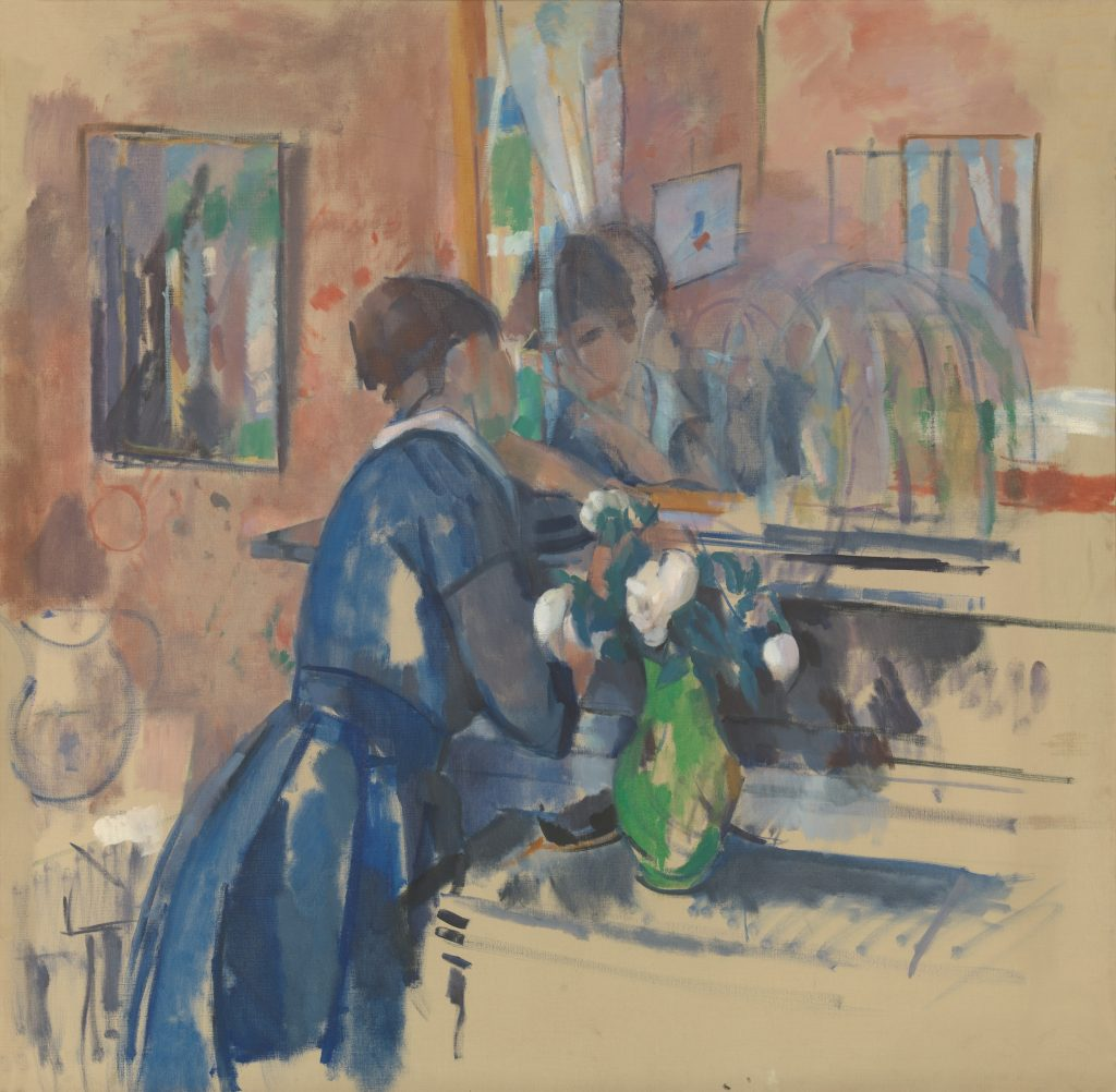 Lady in blue before a mirror - Rik Wouters - Musée Royal des Beaux Arts en Belgique - Bruxelles