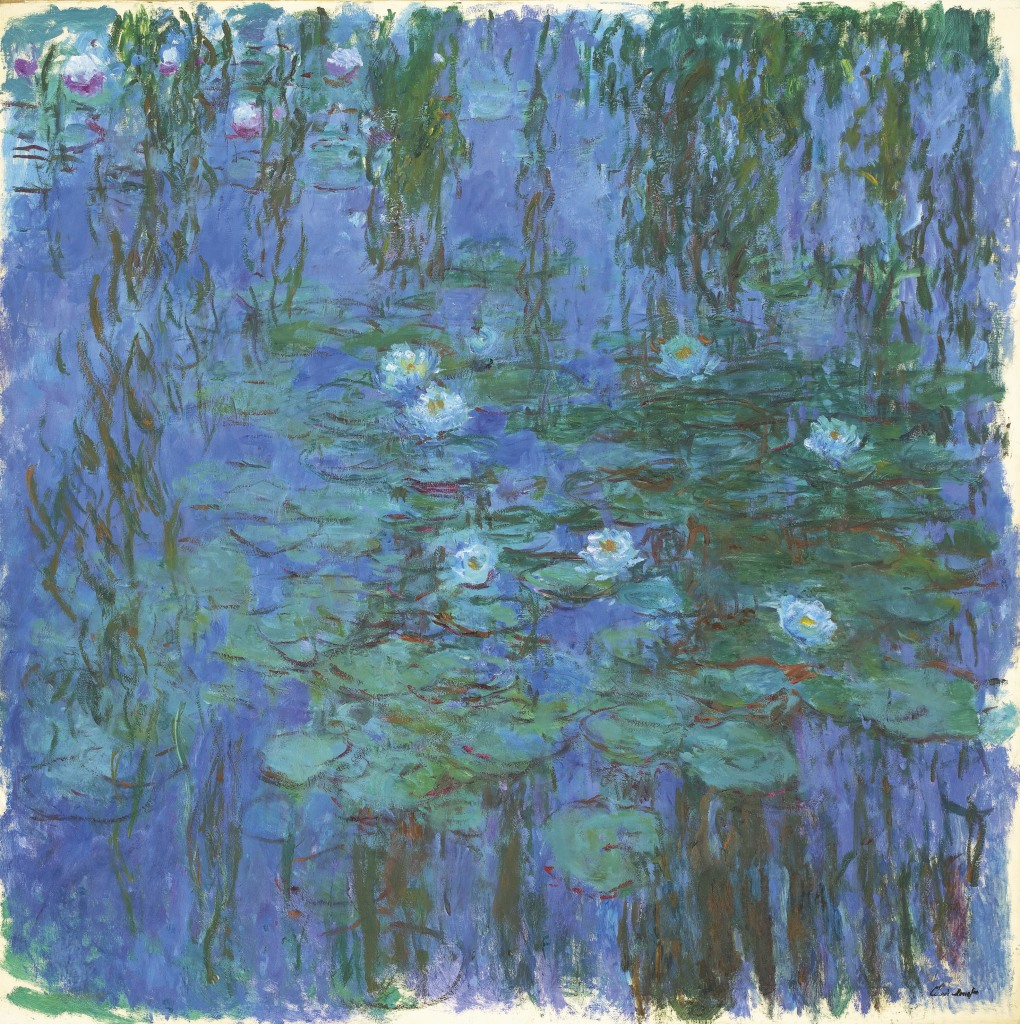 Claude Monet - Nympheas bleus Au dela des etoiles, le paysage mystique de Monet a Kandinsky - Musee d'Orsay