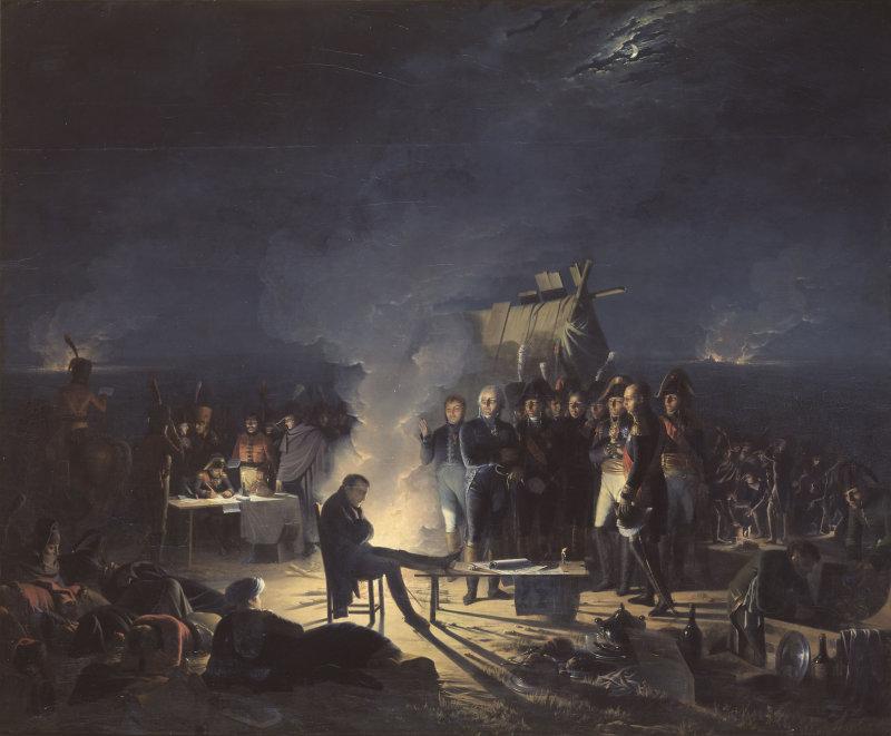 bivouac de napolon Ier sur le champ de bataille de wagram nuit du 5 au 6 juillet 1809