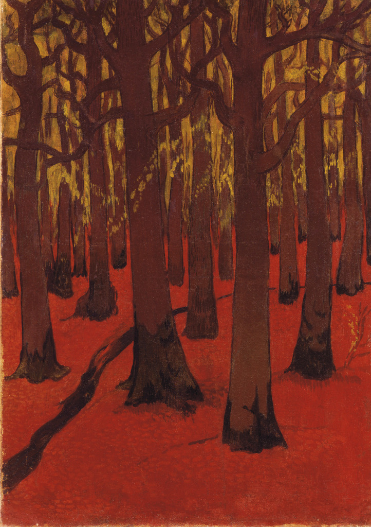 Lacombe La Foret au Sol Rouge- Au dela des etoiles, le paysage mystique de Monet a Kandinsky - Musee d'Orsay Paris,