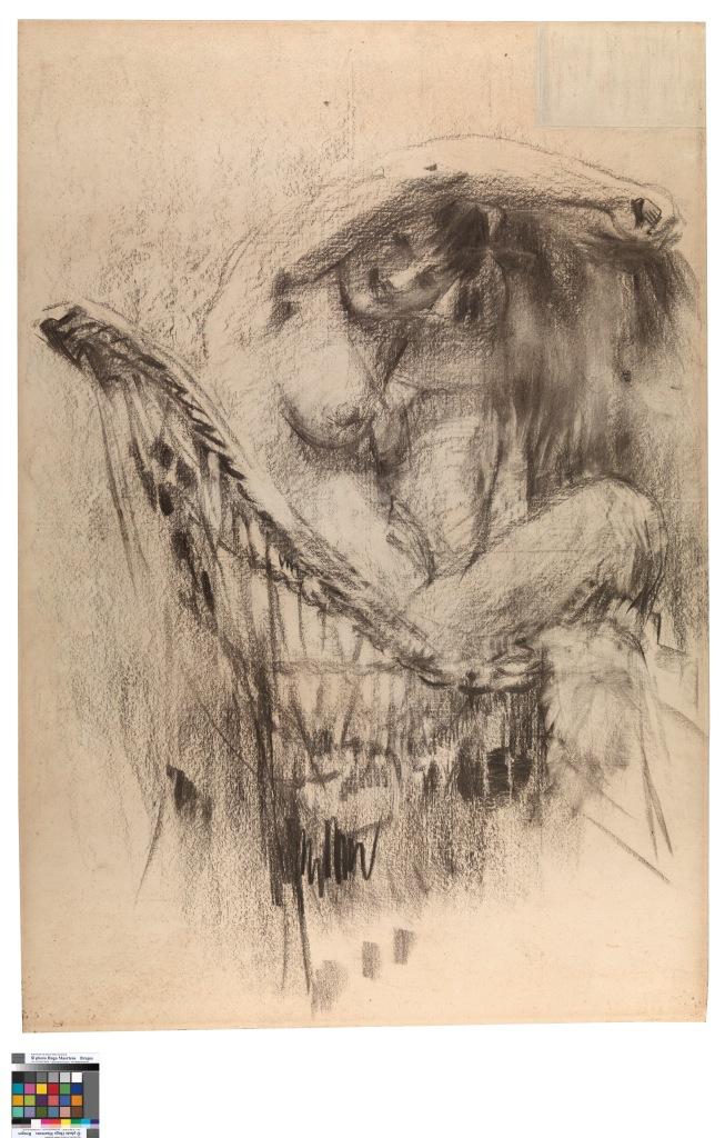 Nude in a cane chair - Rik Wouters - Musée Royal des Beaux Arts en Belgique - Bruxelles