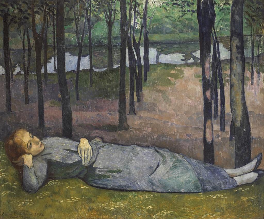 Bernard Madeleine au bois d'amour - Au dela des etoiles, le paysage mystique de Monet a Kandinsky - Musee d'Orsay Paris
