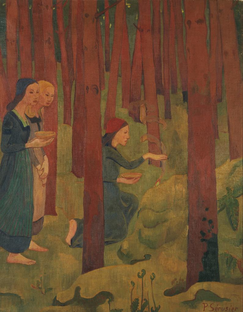 Serusier L'Incantation ou le Bois Sacre - Au dela des etoiles, le paysage mystique de Monet a Kandinsky - Musee d'Orsay Paris