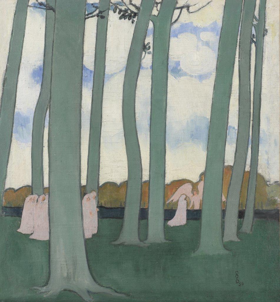 Maurice Denis Procession sous les arbres - Au dela des etoiles, le paysage mystique de Monet a Kandinsky - Musee d'Orsay Paris
