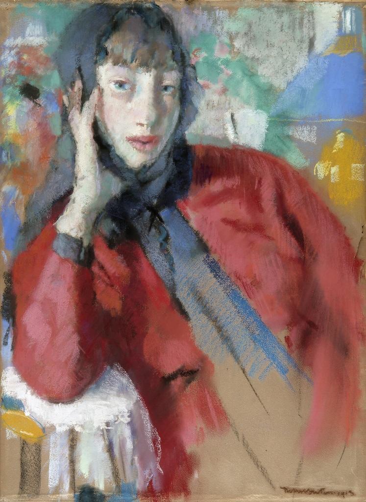 Femme à la mantille - Rik Wouters - Musée Royal des Beaux Arts en Belgique - Bruxelles