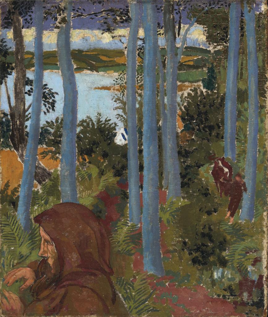 Maurice Denis Homme au capuchon dans un paysage - Au dela des etoiles, le paysage mystique de Monet a Kandinsky - Musee d'Orsay Paris