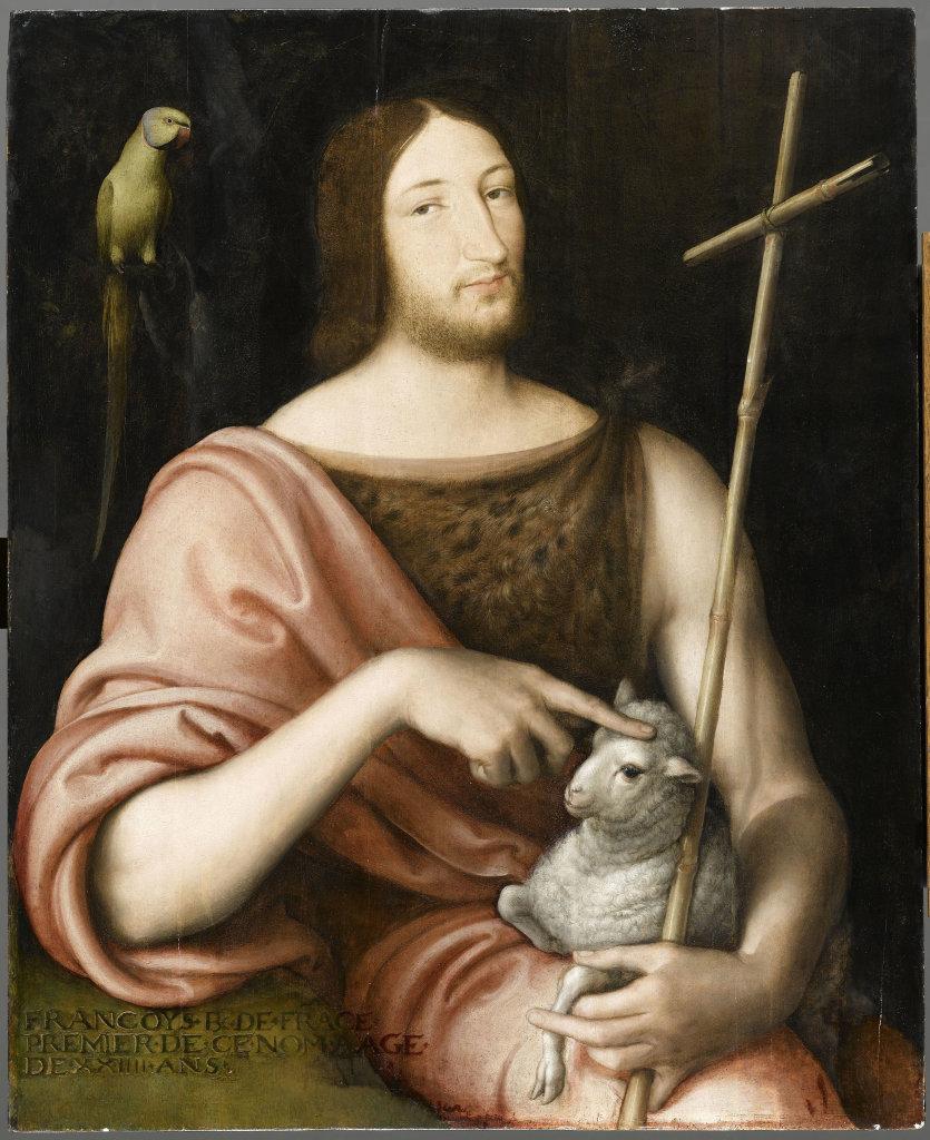 Jean Clouet Portrait de François Ier en saint Jean Baptiste