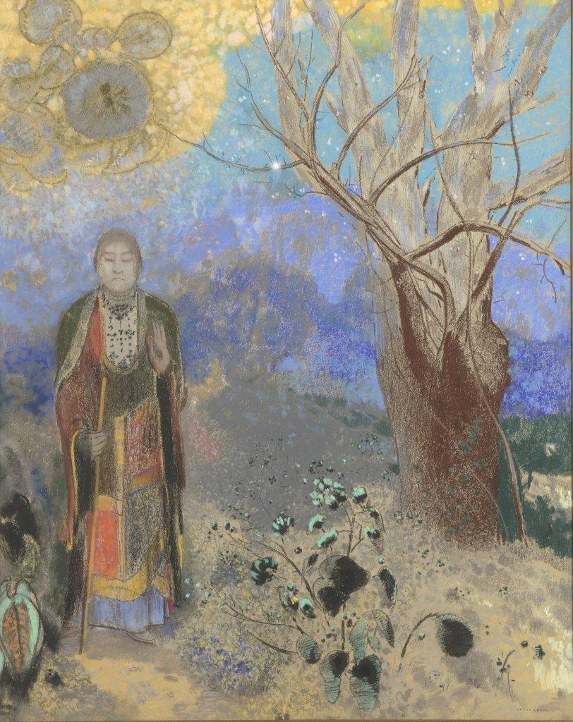 Redon Le Bouddha - Au dela des etoiles, le paysage mystique de Monet a Kandinsky - Musee d'Orsay Paris