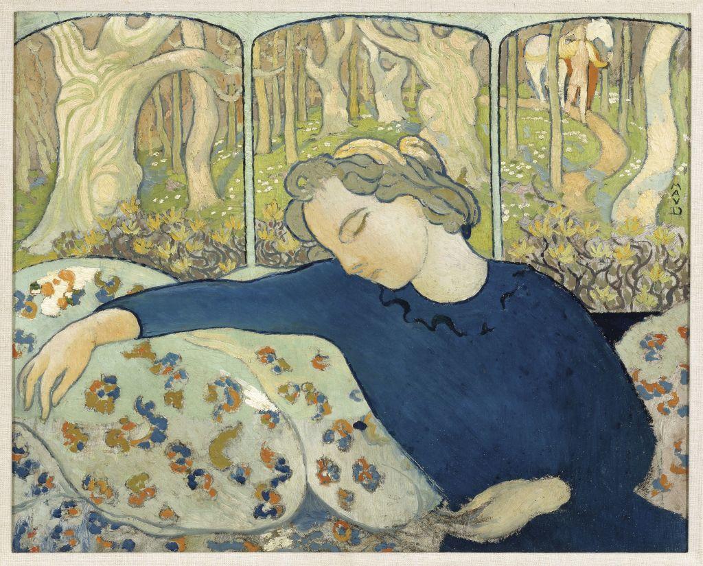 Maurice Denis La Dormeuse au Bois Magique - Au dela des etoiles, le paysage mystique de Monet a Kandinsky - Musee d'Orsay Paris