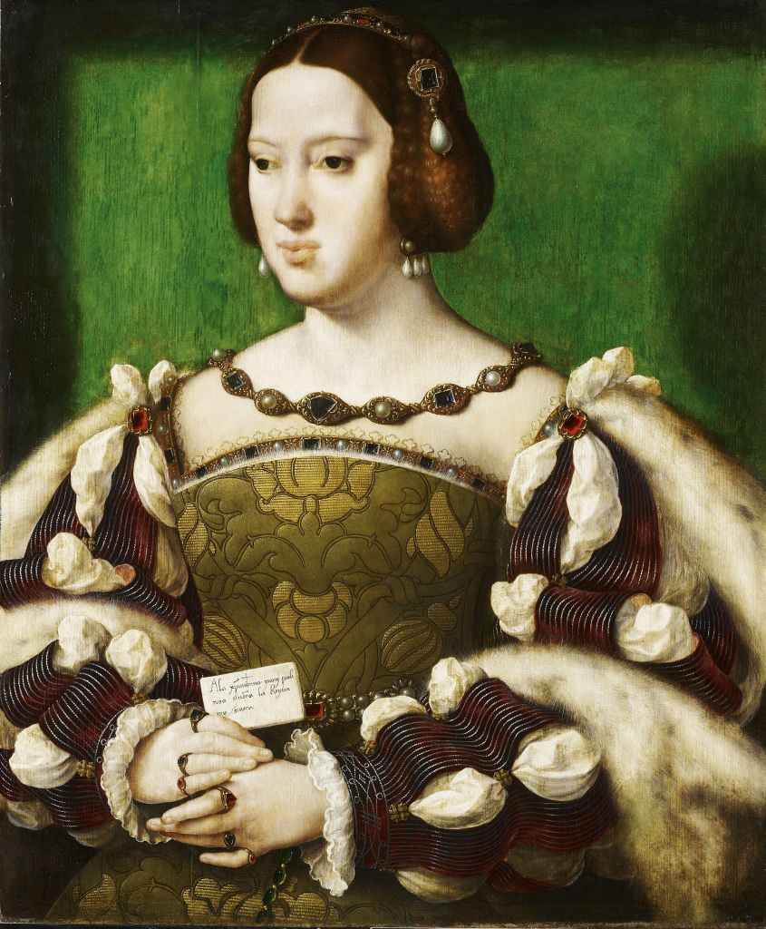 1Joos Van Cleve, Portrait d'Eléonore d'Autriche