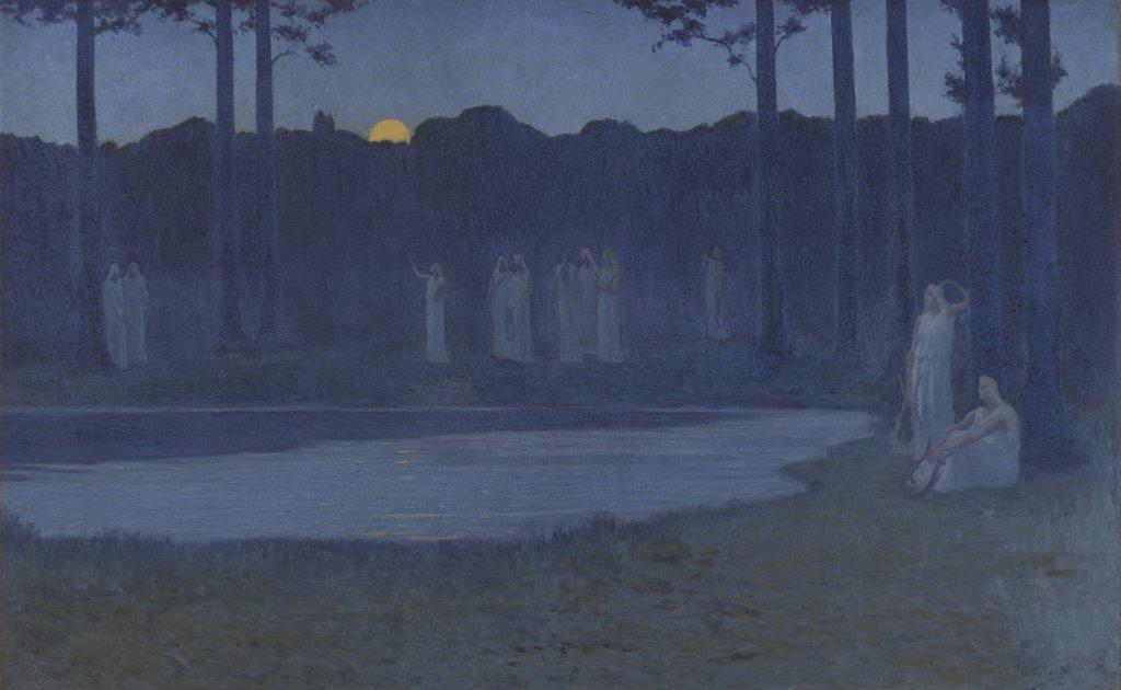 Osbert Les chants de la nuit - Au dela des etoiles, le paysage mystique de Monet a Kandinsky - Musee d'Orsay Paris