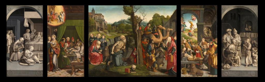Grégoire Guérard, Triptyque de Saint Jérôme, musée de Brou, Bourg-en-Bresse