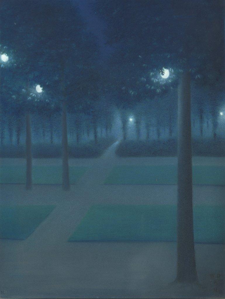 Degouve de Nuncques Nocturne - Au dela des etoiles, le paysage mystique de Monet a Kandinsky - Musee d'Orsay Paris