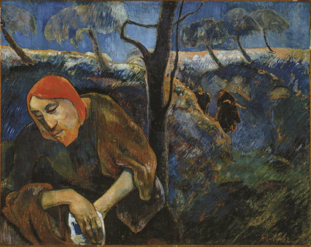 Gauguin Le Christ au jardin des oliviers - Au dela des etoiles, le paysage mystique de Monet a Kandinsky - Musee d'Orsay Paris