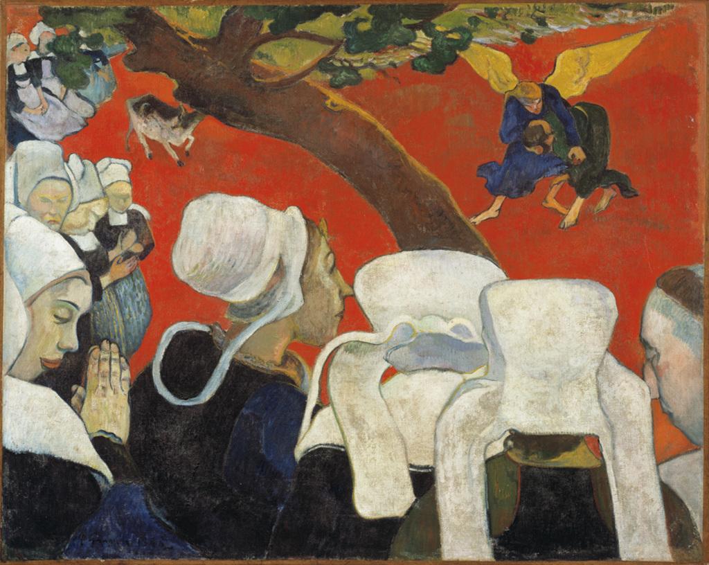 Gauguin Vision of the Sermon Jacob wrestling with the angel 1888 - Au dela des etoiles, le paysage mystique de Monet a Kandinsky - Musee d'Orsay Paris
