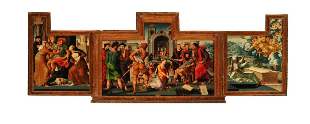 Maître de Dinteville (Bartholomeus Pons?), La légende de Sainte-Eugénie, Varzy, Mairie