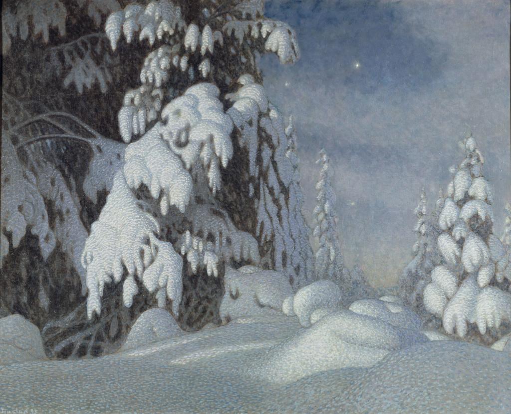 Gustav Fjaestad: Vintermansken - Au dela des etoiles, le paysage mystique de Monet a Kandinsky - Musee d'Orsay Paris