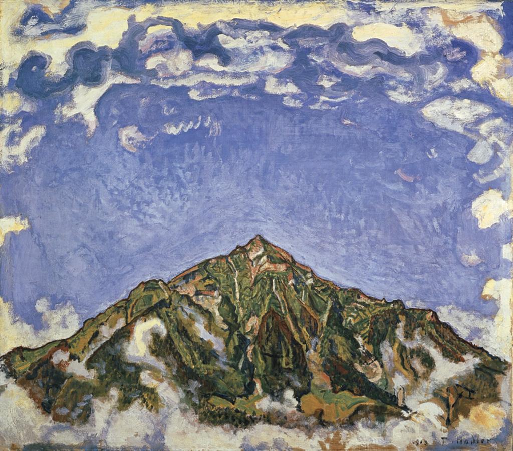 G Hodler-Ferdinand Der Niesen vom Heustrich 1910 - Au dela des etoiles, le paysage mystique de Monet a Kandinsky - Musee d'Orsay Paris