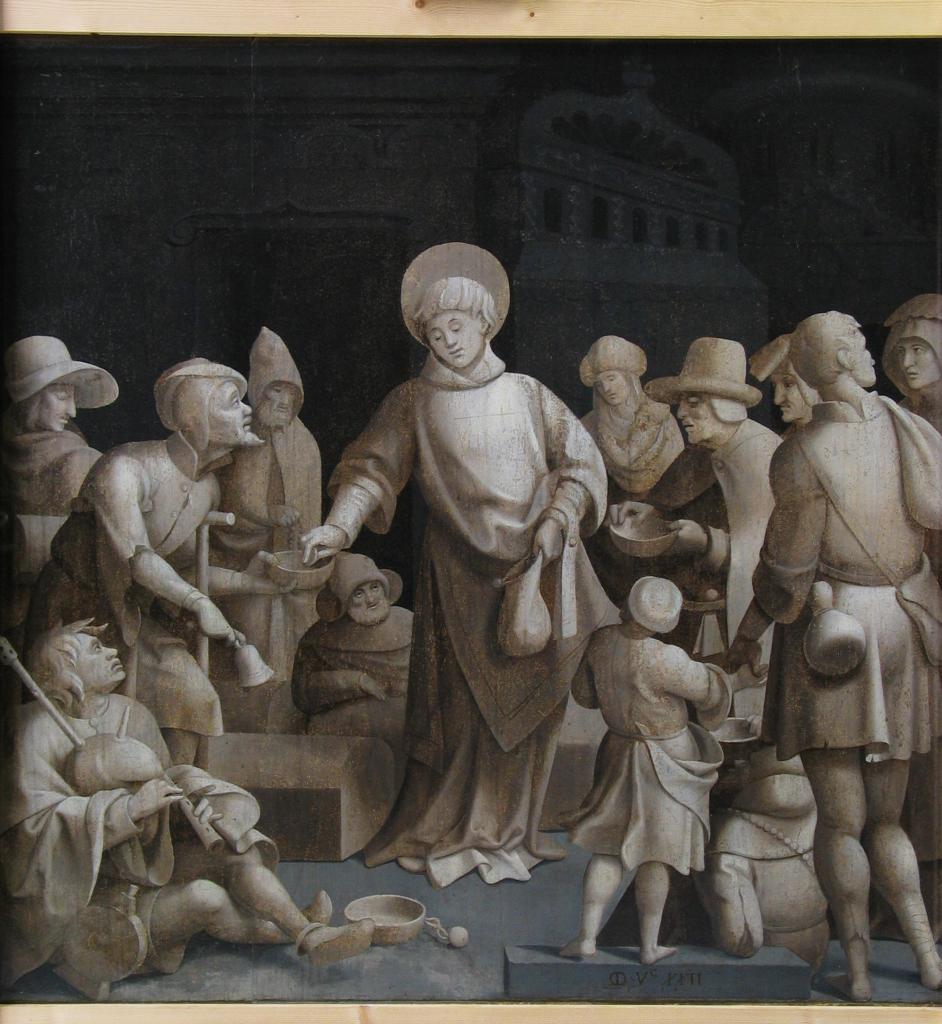 Grégoire Guérard, La Transfiguration, avec au revers Saint Laurent faisant l'aumône, Saint-Léger-sur-Dheune, Mairie
