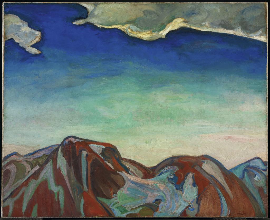 G Varley Frederick The Cloud Red Mountain 1927 - Au dela des etoiles, le paysage mystique de Monet a Kandinsky - Musee d'Orsay Paris