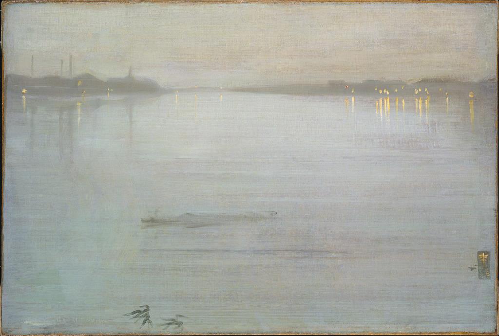 Whistler James Abbott McNeill Nocturne in Blue and Silver Cremorne Lights 1872 - Au dela des etoiles, le paysage mystique de Monet a Kandinsky - Musee d'Orsay Paris