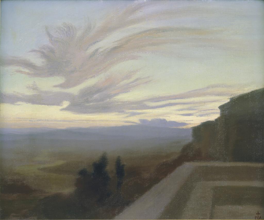 Dulac Charles Marie The Tiber Valley at Assisi 1898 - Au dela des etoiles, le paysage mystique de Monet a Kandinsky - Musee d'Orsay Paris