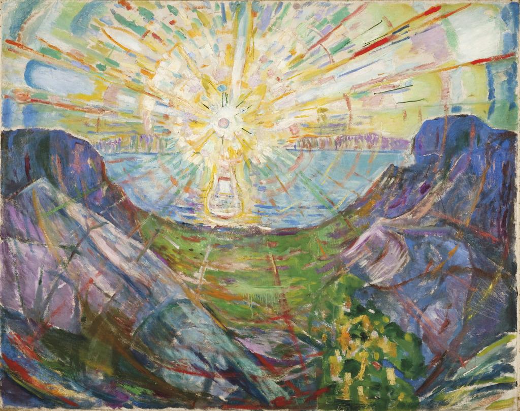 Edvard Munch The Sun 1910 - Au dela des etoiles, le paysage mystique de Monet a Kandinsky - Musee d'Orsay Paris