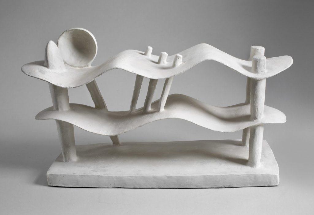 Alberto Giacometti (1901-1966), Femme couchee - Exposition Derain, Balthus, Giacometti au Musee d'Art Moderne de Paris