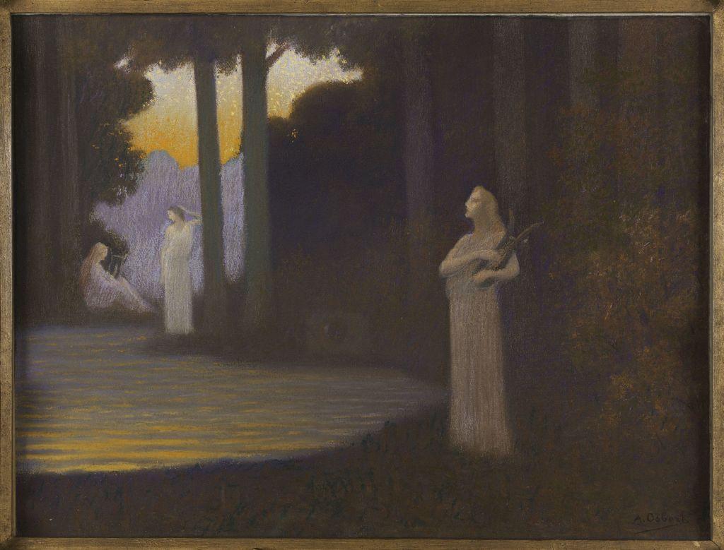 Alphonse Osbert, Le lyrisme de la forêt, 1910 - L'art du pastel de Degas à Redon au Petit Palais