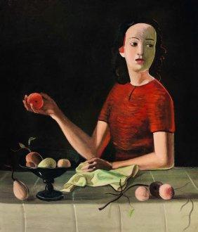 Andre Derain, Genevieve a la Pomme, vers 1937-38 - Exposition Derain, Balthus, Giacometti au Musee d'Art Moderne de Paris