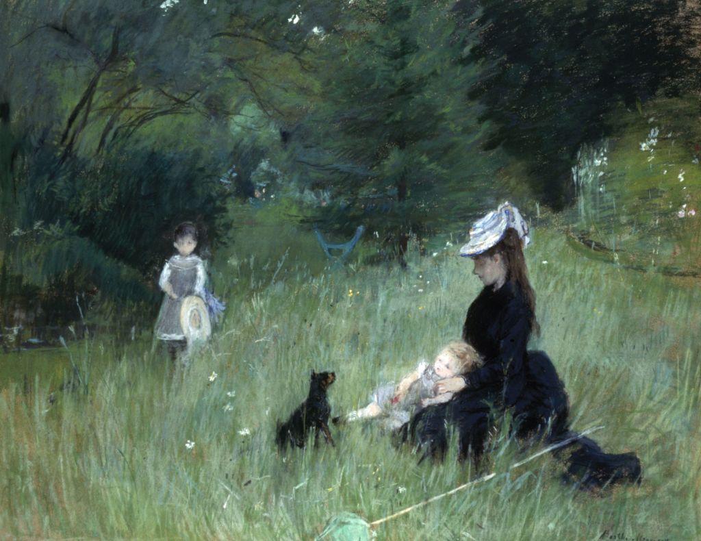 Berthe Morisot, Dans le parc, vers 1874 - L'art du pastel de Degas à Redon au Petit Palais