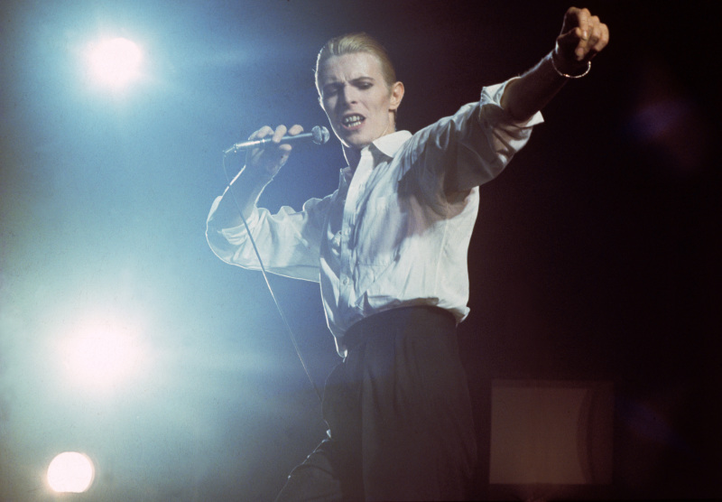 Ahoi, Rotterdam David Bowie, netherlands - 1976,  (Photo Gijsbert Hanekroot/Redferns) *** Local Caption *** David Bowie