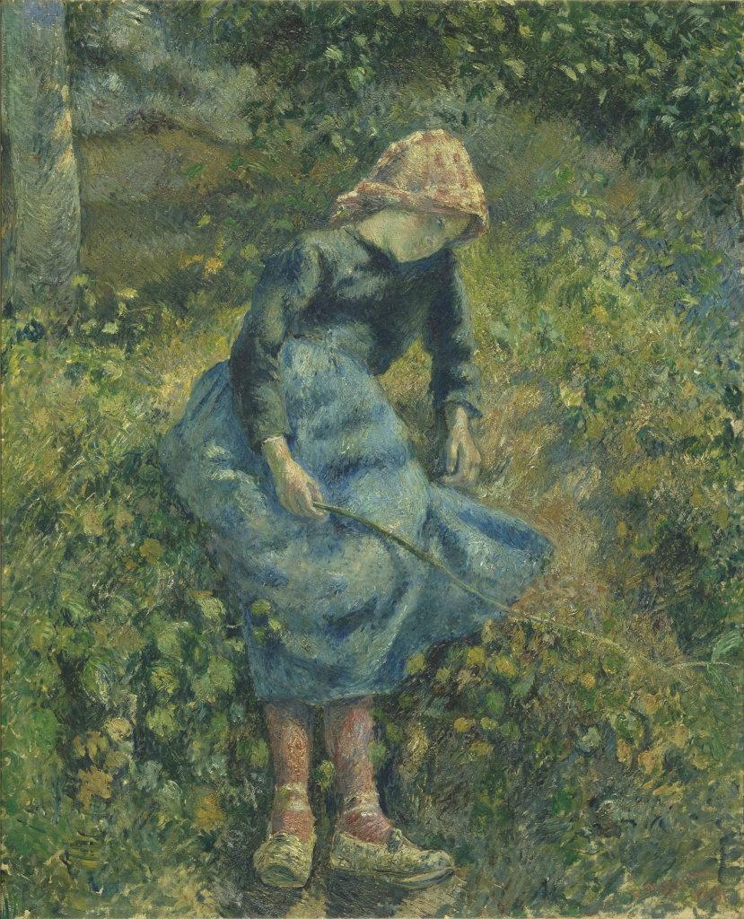 Camille Pissarro, Jeune Fille à la Baguette dit La Bergère, 1881 - Exposition Camille Pissarro, Le premier des impressionnistes au Musée Marmottan Monet