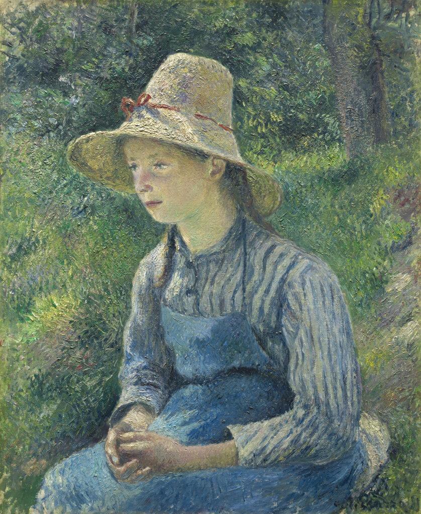 Camille Pissarro, Jeune Paysanne au chapeau de paille, 1881 - Exposition Camille Pissarro, Le premier des impressionnistes au Musée Marmottan Monet