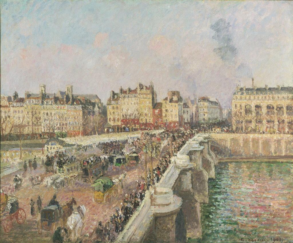 Camille Pissarro, Le Pont-Neuf, après-midi, soleil, première série, 1901 - Exposition Camille Pissarro, Le premier des impressionnistes au Musée Marmottan Monet