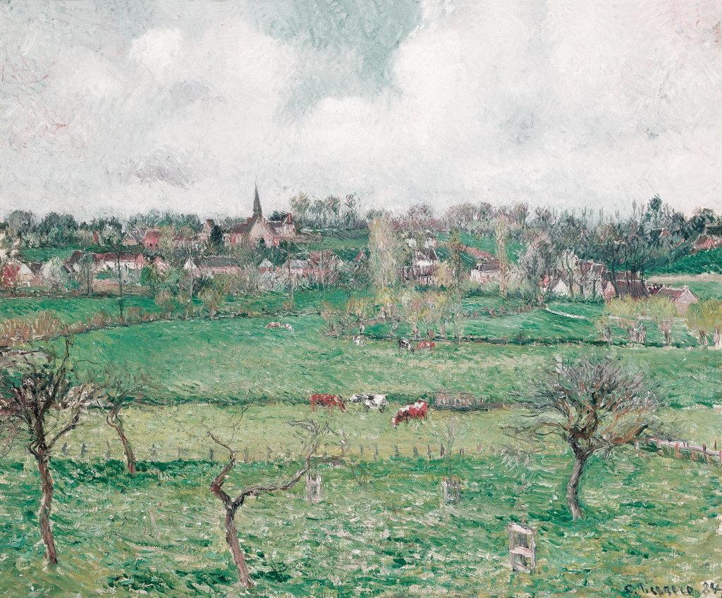 Camille Pissarro, Vue de Bazincourt, temps clair, 1884 - Exposition Camille Pissarro, Le premier des impressionnistes au Musée Marmottan Monet