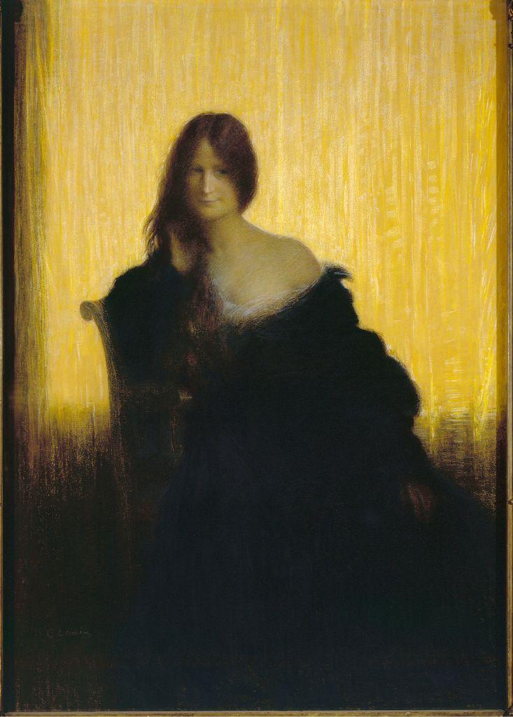 Charles-Lucien Léandre, Sur champ d'or, 1897 - L'art du pastel de Degas à Redon au Petit Palais