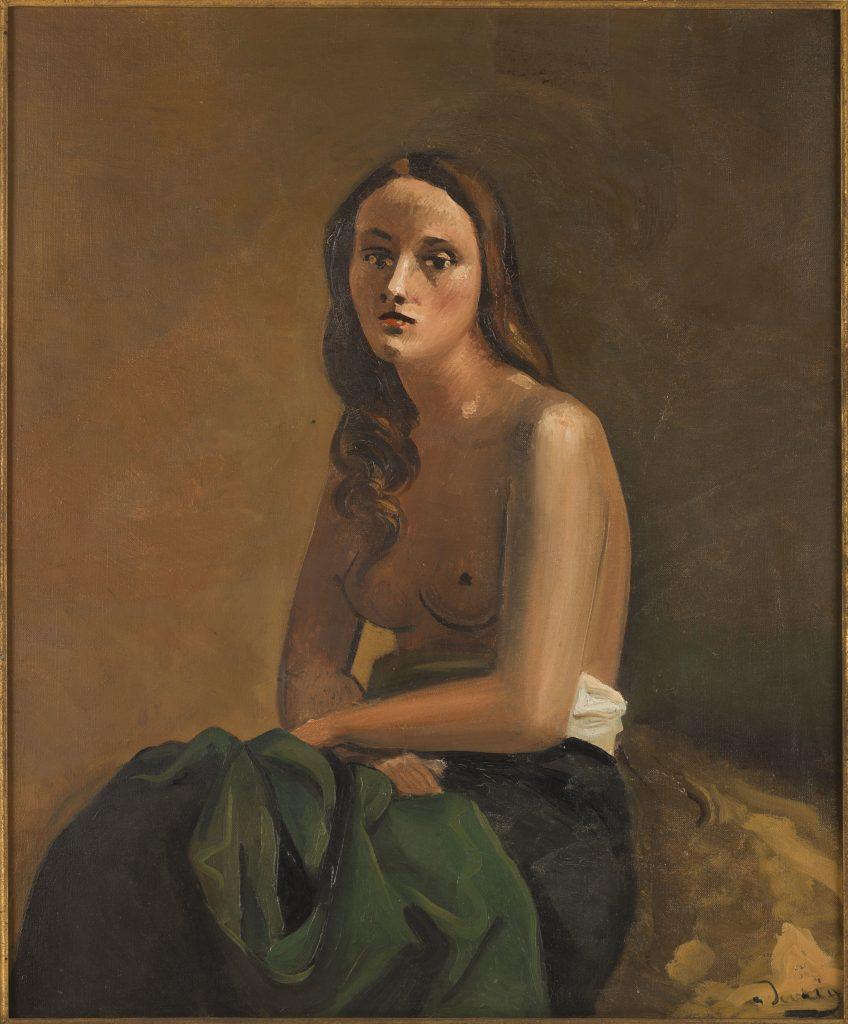 Nu assis à la draperie verte, André Derain (1880-1954), Muséed'Art moderne de la Ville de Paris