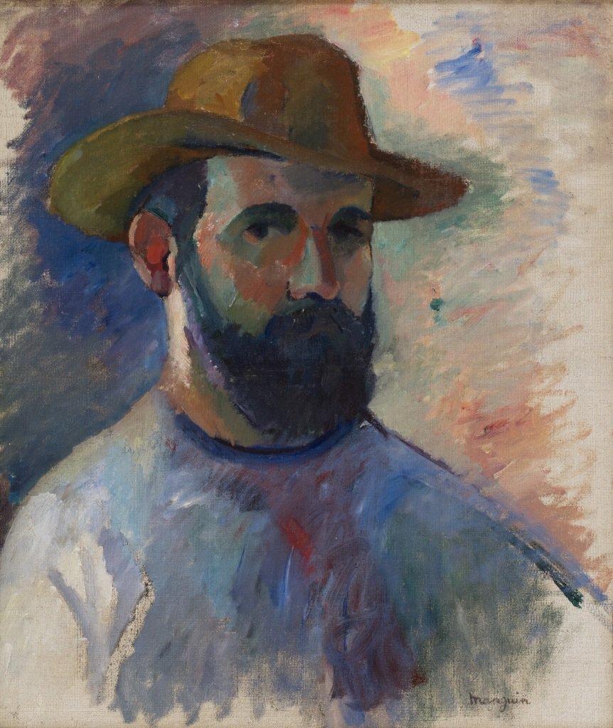 Henri Manguin Autoportrait, 1905 - La volupte de la couleur au musee des impressionnismes de Giverny