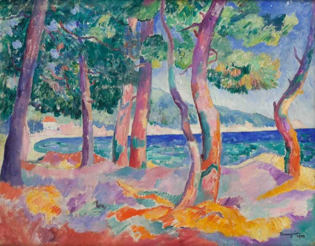 Henri Manguin La Pinede à Cavaliere, 1906- La volupte de la couleur au musee des impressionnismes de Giverny