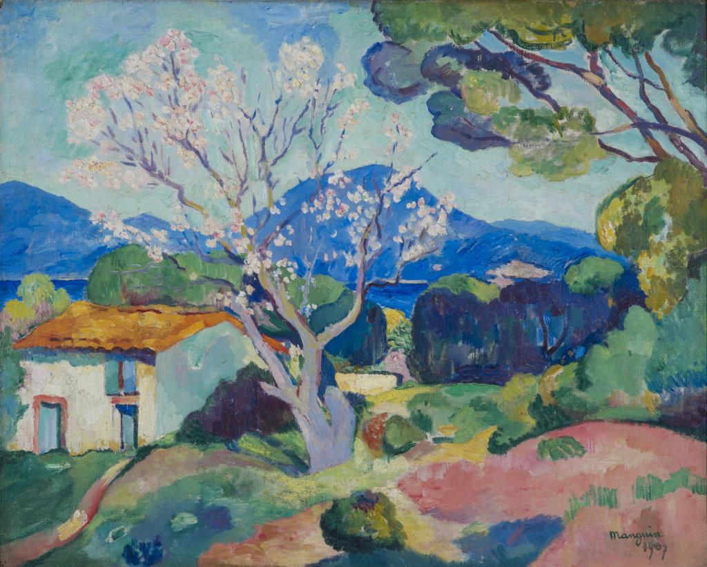 Henri Manguin, L'Amandier en fleurs,1907 - La volupte de la couleur au musee des impressionnismes de Giverny