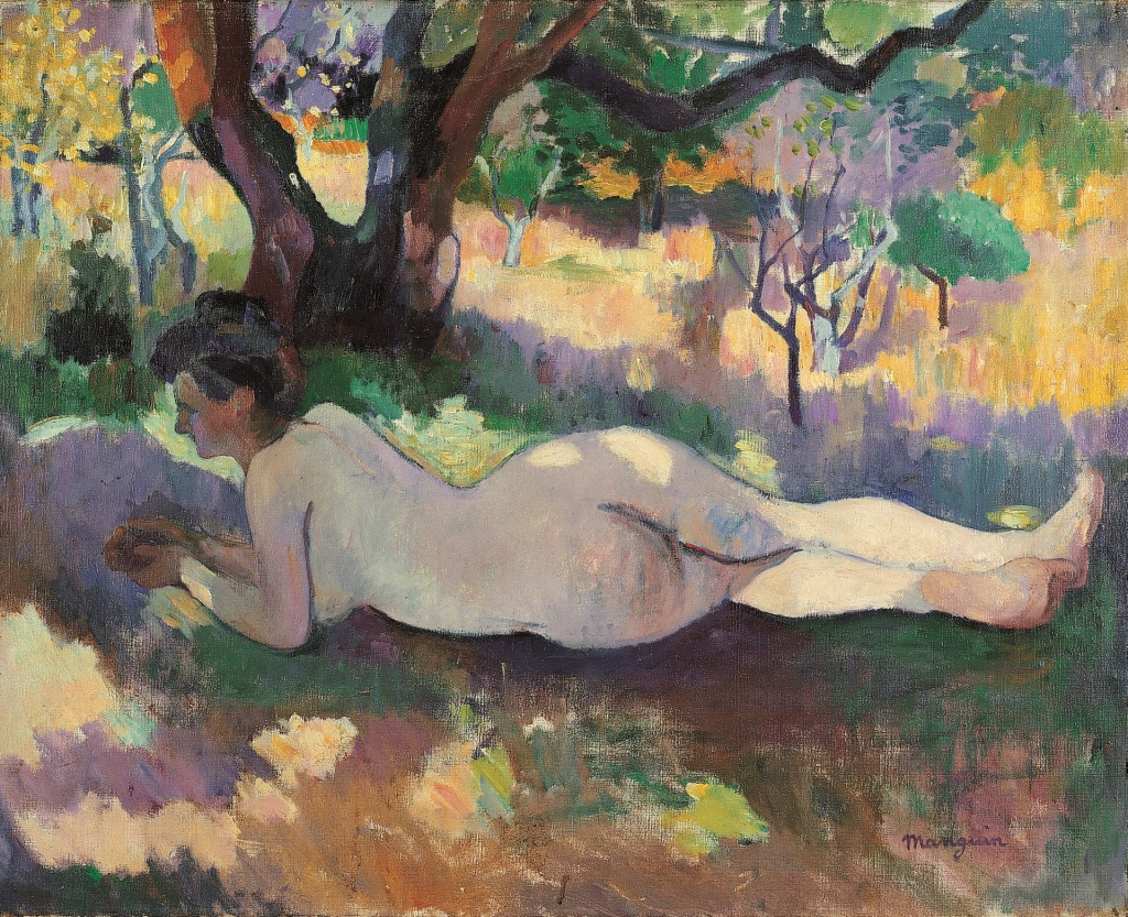 Henri Manguin Nu sous les arbres, Jeanne, 1905 - La volupte de la couleur au musee des impressionnismes de Giverny