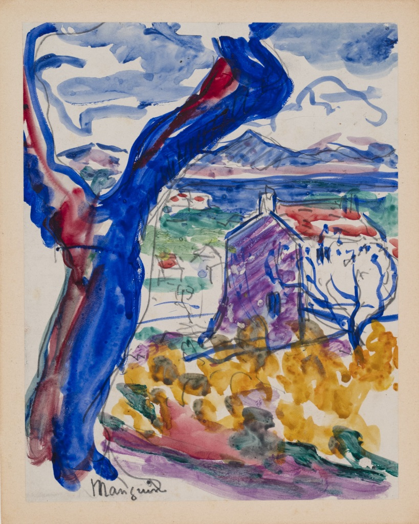Henri Manguin Saint-Tropez, l'arbre et le golfe, 1904 - La volupte de la couleur au musee des impressionnismes de Giverny