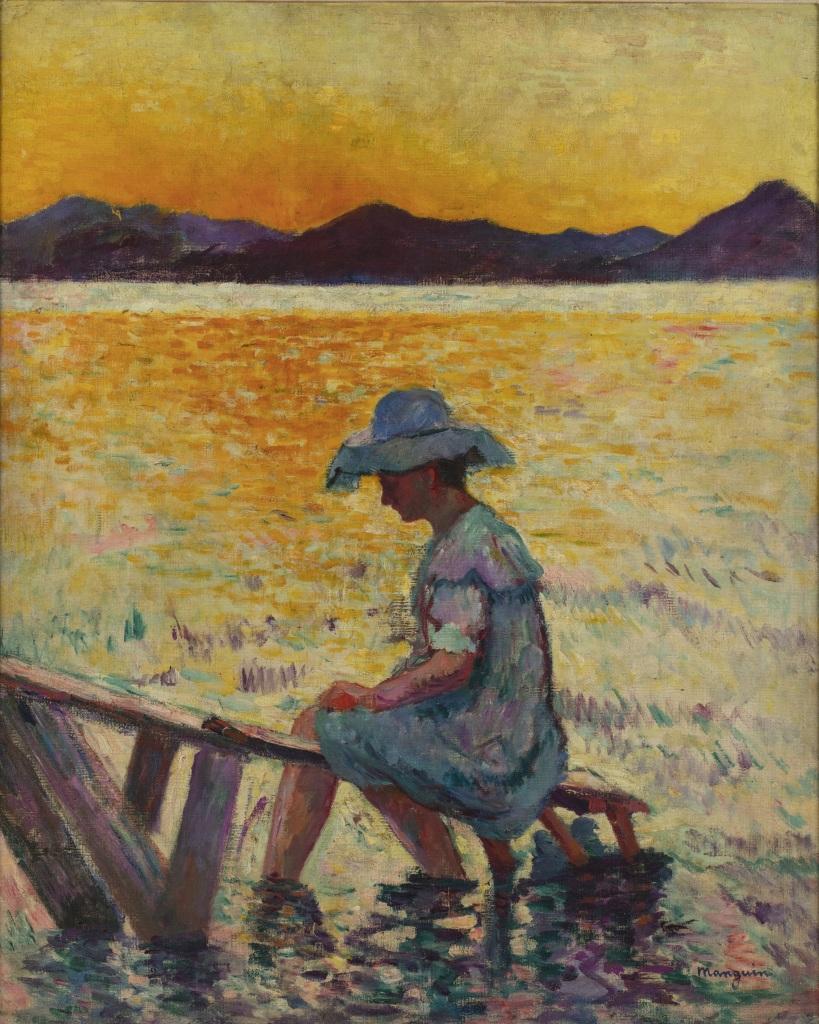 Henri Manguin Saint-Tropez, le coucher de soleil, 1904 - La volupte de la couleur au musee des impressionnismes de Giverny