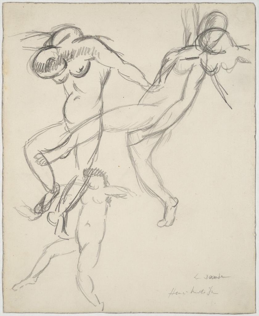 Henri Matisse Etude pour la danse 1909 - Laboratoire d'idee - Musee des beaux arts de Lyon - Jusqu'au 6 mars